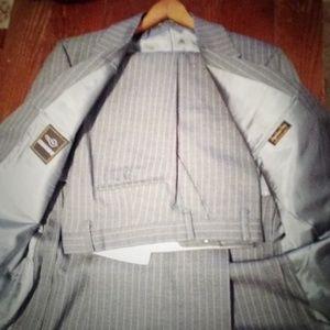 Executive grey pinstripe suit